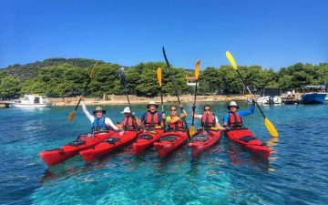 The crew - Island hopping sea kayak tour Croatia - Red Adventures