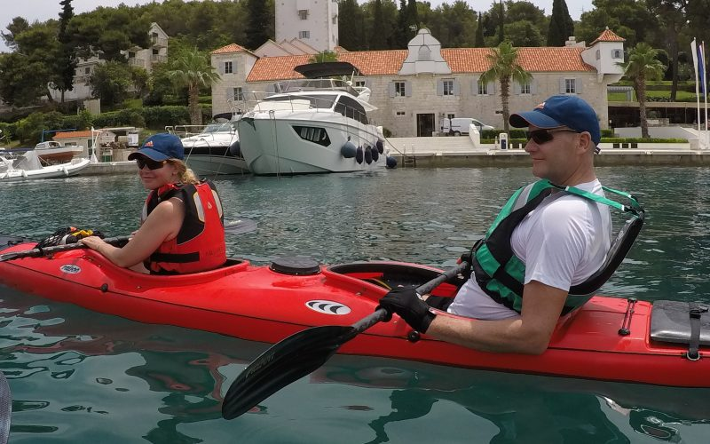 Old palace in Maslinica - Island hopping sea kayak tour Croatia - Red Adventures