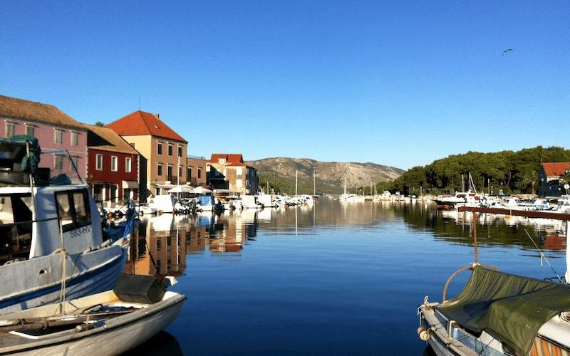 Ancient town of Stari Grad on Hvar island