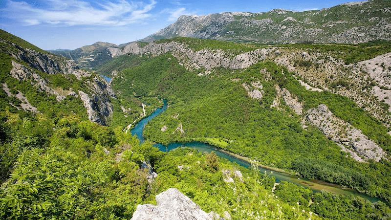 Stunning river of Cetina - Hiking holiday in Croatia
