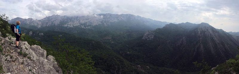 Overlooking Paklenica canyon