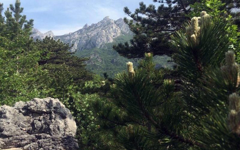 Peaks of the Velebit mountain