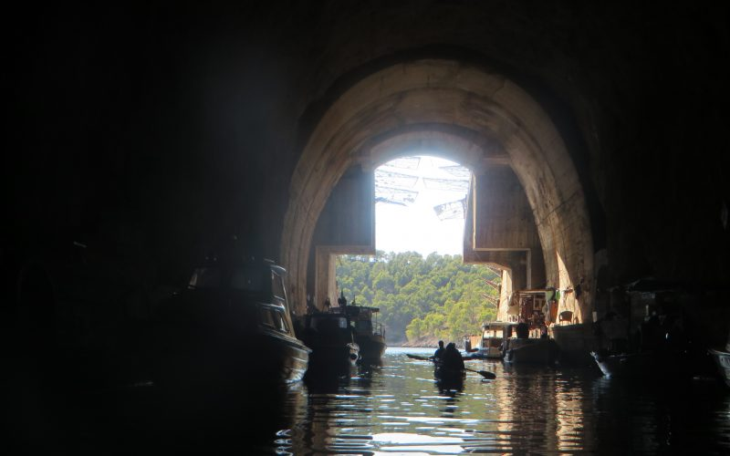 Old military tunnels - Island hopping sea kayak tour Croatia - Red Adventures