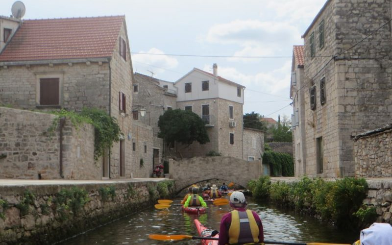 Little Venice on island Hvar - Island hopping sea kayak tour Croatia - Red Adventures