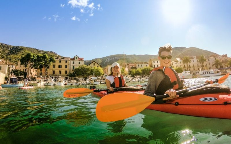 And finally tour start! - Magic island sea kayak tour Croatia