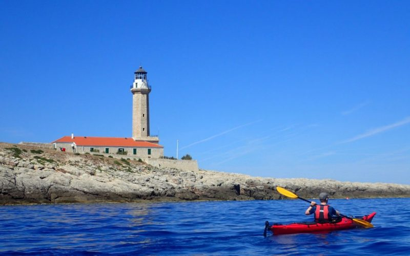Stoncica lighthouse - Magic island sea kayak tour Croatia