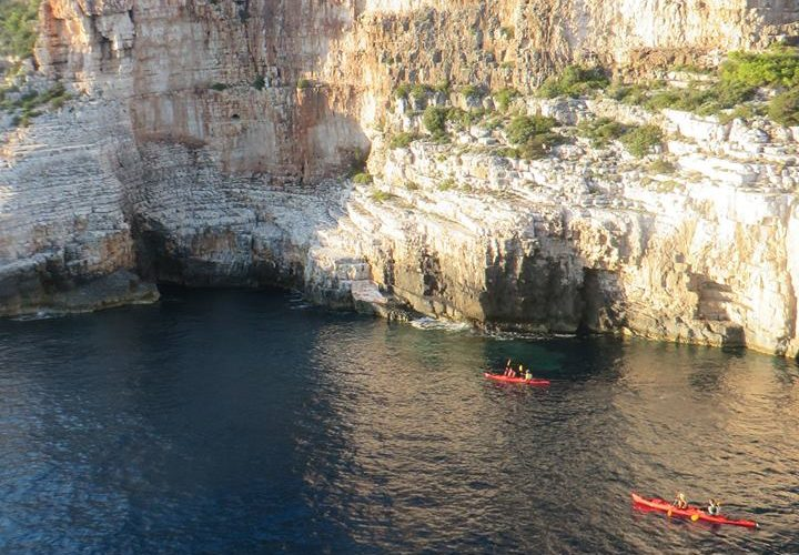 Landscape on island Vis - Magic island sea kayak tour Croatia