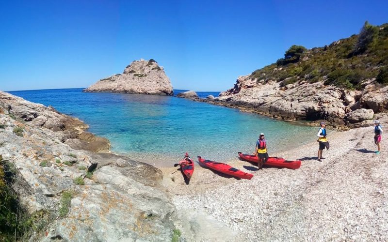 Lonely beach on island Vis - Magic island sea kayak tour Croatia