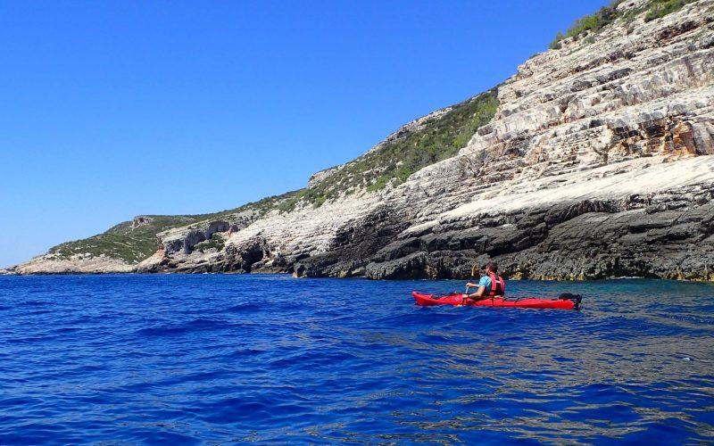 Landscape on island Vis - Magic island sea kayak tour Croatia