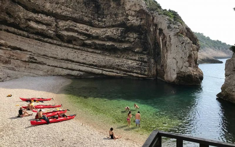 Stiniva cove on island Vis - Magic island sea kayak tour Croatia