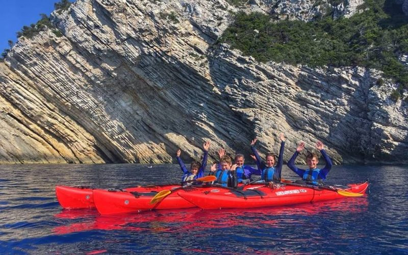 Island Bisevo cliffs - Magic island sea kayak tour Croatia