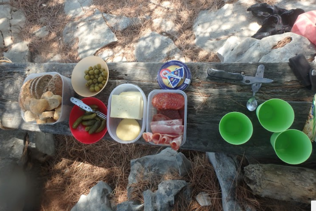 Picnic lunch on the beach