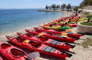 Kayaking fleet for your student group in Croatia