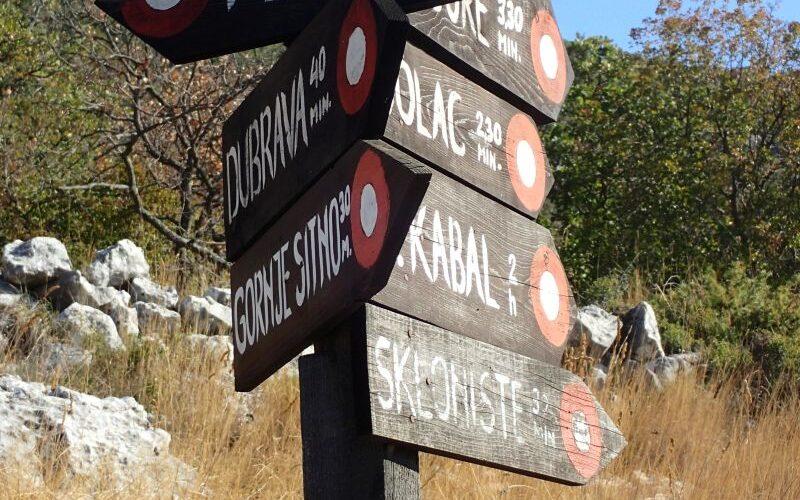 Hiking in Croatia Mosor mountain